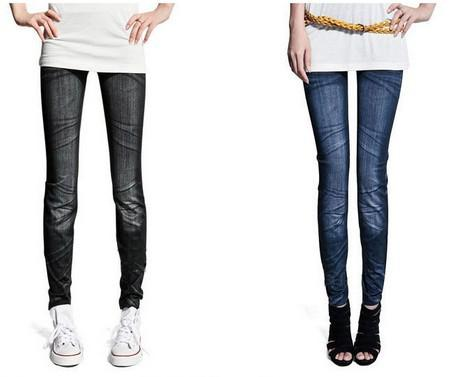 jeans look 7 patterns sexy leggings/ slim fit sell at low price but high quality