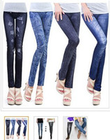 Wholesale Low Price Blue Jeans - free shipping jeans look 7 patterns sexy leggings  slim fit sell at low price but high quality