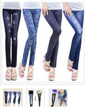 free shipping jeans look 7 patterns sexy leggings/ slim fit sell at low price but high quality