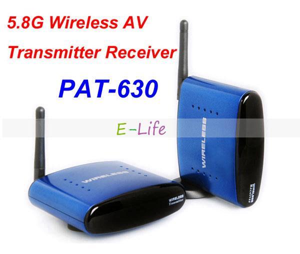 PAT-630 5.8Ghz Wireless AV Audio Video TV Sender Transmitter and Receiver for IPTV DVD STB DVR up to 200M free shipping