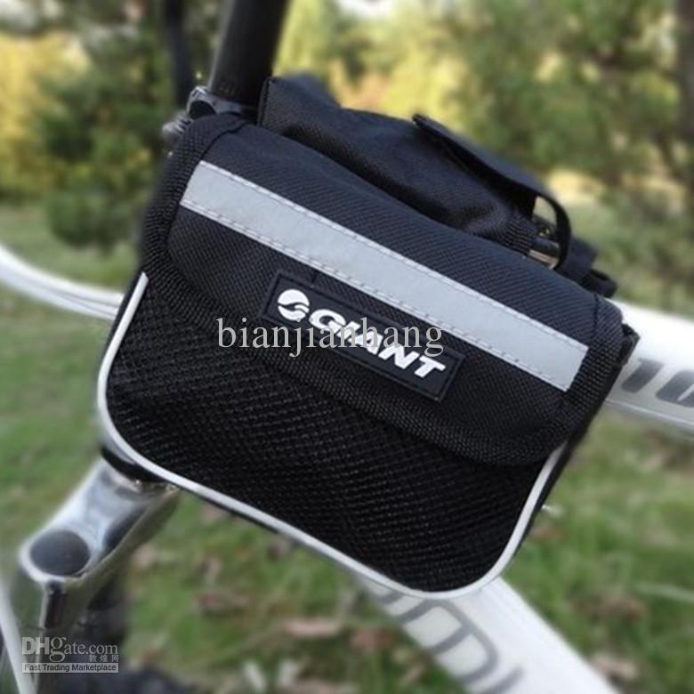 2018 Cycling Bike Frame Front Tube Bag Giant Bicycle Bag Black