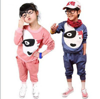Wholesale Cheap Childrens Clothes Wholesale - 2013 New arrival childrens Autumn Outfits long sleeved suit for children cute cheap kids sport fleece set childrens clothing,