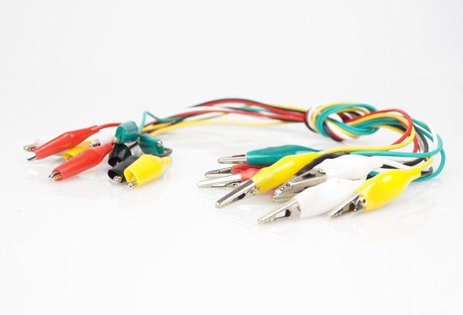 / Spedizione gratuita Clip elettrico Clip Test Test di piombo Colore jumper cavo cavo Z # BV195 @CF