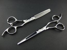 tijeras de pelo de oro Rebajas HIKARI tijeras del corte del pelo de JP440C y las tijeras de reducción con la bolsa de 5.5 PULGADAS 1 par / porción NUEVO