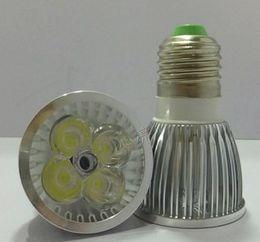 lâmpadas altas Desconto Frete grátis de Alta potência 12 W 4x3 W Dimmable GU10 / MR16 / E27 / E14 Levou Luz Da Lâmpada Holofotes lâmpada led