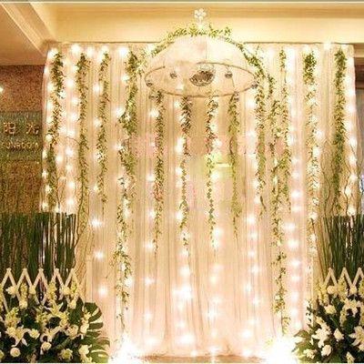 800leds Led Curtain String Christmas Lights Garden Lamps