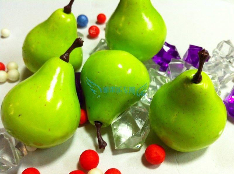 High Simulation Mini Pear Artificial Fruit Artificial plastic Pear home wedding Decoration