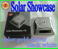 Wholesale Hot Wheels Solar - HOT!!!Solar Battery Powered Turntable Rotary Cosmic Wheel Solar Showcase Free Shipping