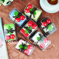 Wholesale Christmas Swiss Roll - 100% cotton cake towel Swiss Roll shape wedding gifts christmas gifts novelty gift 30*30cm