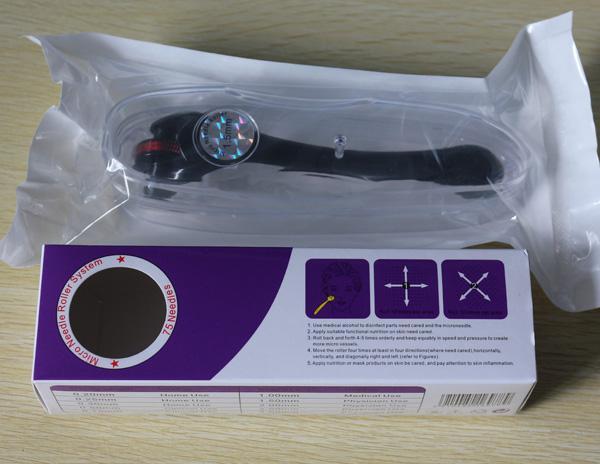 / Nueva libre shpping 180 agujas titanium ojo derma roller reducción de la cicatriz Micro Needle System