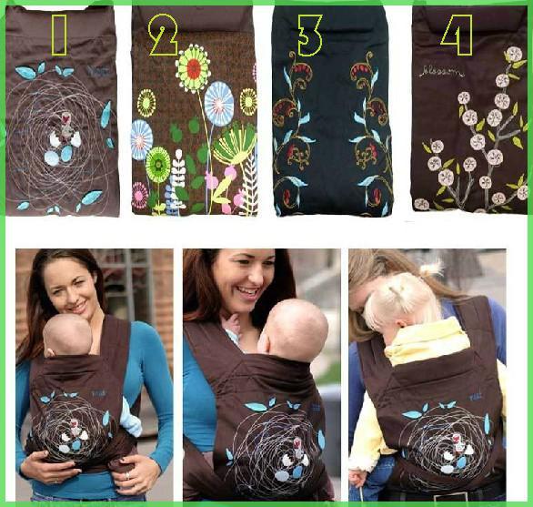 ¡Caliente al por menor! Calidad a estrenar Minizone bordado japonés Portador del bebé frente del bebé cadera portadores bebé Honda portabebés infantil, nave de la gota
