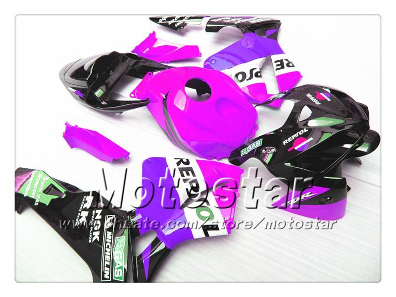 Обтекатели кузова 7gifts для HONDA CBR600RR F5 2005 2006 CBR 600 RR 05 06 CBR 600RR глянцевый фиолетовый черный Repsol обтекатель комплект st60