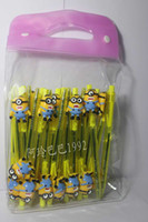 Wholesale Despicable Stationery - Wholesale Despicable Me minion Pen Ball Point Pen Office supplies Stationery 100PCS Lot Free Shipping Gifts High Quality