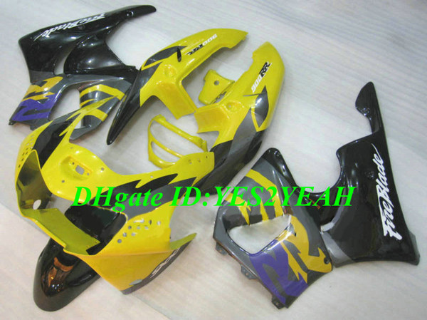 Motorcycle Fairing kit for Honda CBR900RR 919 98 99 CBR 900RR CBR900 1998 1999 ABS Yellow black Fairings set+Gifts HS01