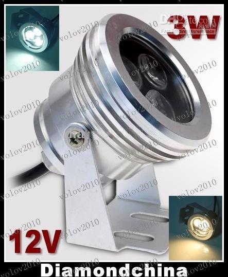 LLFA1661 3W LED Luz de inundación al aire libre Hight Luz LED Luz subacuática Lámpara de reflector IP68 a prueba de agua 12V