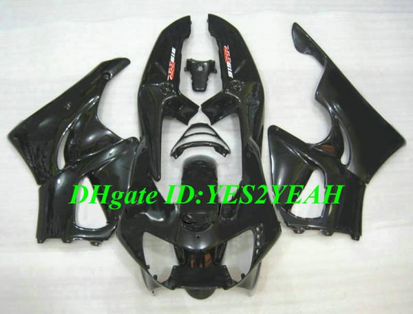 Kit de Carenagem da motocicleta para Honda CBR900RR 919 98 99 CBR 900RR CBR900 1998 1999 ABS Gloss preto Carimbos conjunto + Presentes HS02