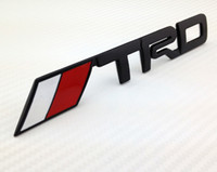 Wholesale Toyota Trd Stickers 3d - Excellent car stickers 3D metal TRD rear car badge emblem logo for toyota, nice Metal sticker, black color