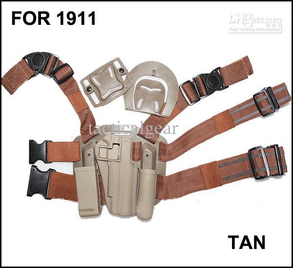 Drop Leg Serpa Taktische Plattform + Holster für 1911 DARK EARTH