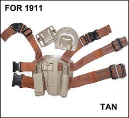 Wholesale Drop Leg Holster Platform - Drop Leg Serpa Tactical Platform + Holster for 1911 DARK EARTH