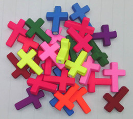 Wholesale Diy Sideways Cross - Brand New 17x24mm Acrylic Sideways Cross Loose Beads fit Kids Necklace & Bracelet Jewelry DIY 200pcs lot Free Shipping
