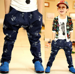 Wholesale Skull Harem Pants Baby - 2016 Autumn clothing children Korean fashion skull boys casual Trousers baby kids Harem Pants 2-6 year Retail XR595