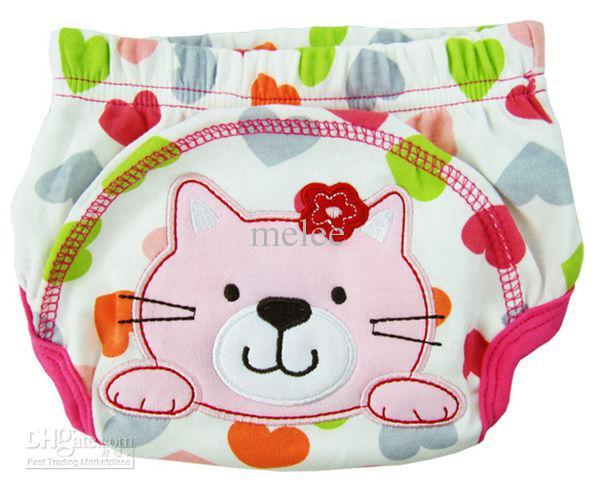 Gran descuento Animal Sassy 3-Layer Pantalones PP para bebés Bragas Pantalones de entrenamiento Pantalones de aprendizaje para bebés Ropa interior de algodón para bebés lavable = 2 Selección de color