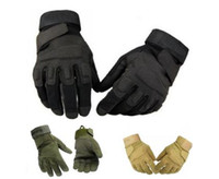 Wholesale Volleyball Free Games - Free Shipping 1pair New Sale Full finger Tactical Weather Shooting Military Cycling hunting Camping Sport Outdoor Game Gloves 3 color