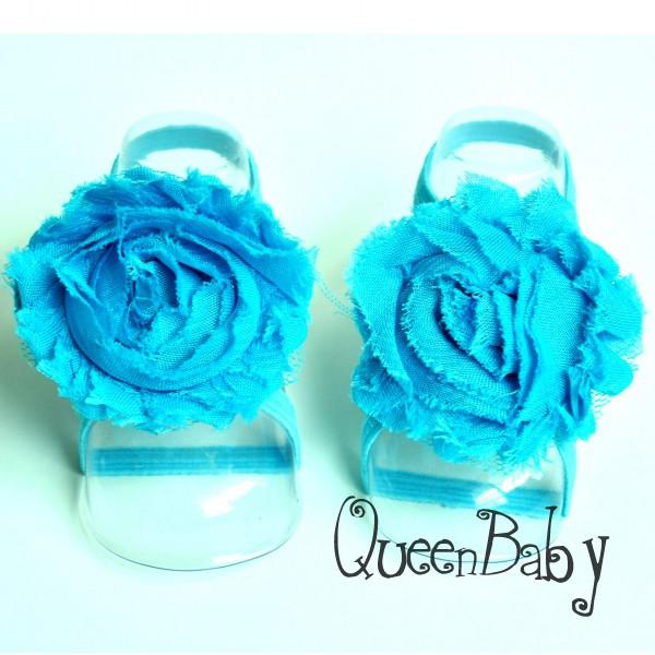 Trail Order Barefoot Baby Sandals with thin Elastic, Girl Baby Shoes, Toddler Thoes, Baby Accessories 40pair/lot QueenBaby