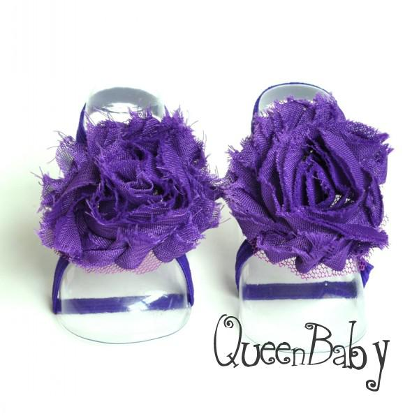 Trail Order Barefoot Baby Sandals with thin Elastic, Girl Baby Shoes, Toddler Thoes, Baby Accessories QueenBaby