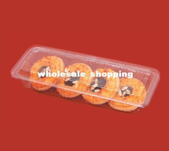 Rectangle Plastic Egg Tarts Box Sushi Box Clear Donuts