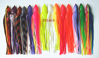 Wholesale Trolling Soft Plastic Lures - 10inch Octopus Shirt Lure Fishing Tackle Trolling Fishing Lure Tuna Soft Plastic Worms Fishing Lure Salt Bait Big Game Skirt Bait