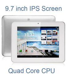 Оптовая торговля-DHL Бесплатная доставка 9,7-дюймовый HD IPS экран четырехъядерный процессор A31s планшет Android 4.1 Allwinner a31s 1.2 ГГц 1 ГБ / 8 ГБ двойная камера HDMI AMPE