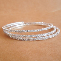 Wholesale Alloy Stretchy - 2013 Delicate 2.5 MM rhinestones Hot Sale Spring Bracelets Stretchy Tennis Jewelry Girls Rhinestone Bracelets Accessories Factory Supply