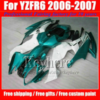 Wholesale customizing yzf r6 resale online - Customize white blue black motorcycle fairings for YZF R6 YAMAHA YZF R6 high quality fairing kit with gifts Np3