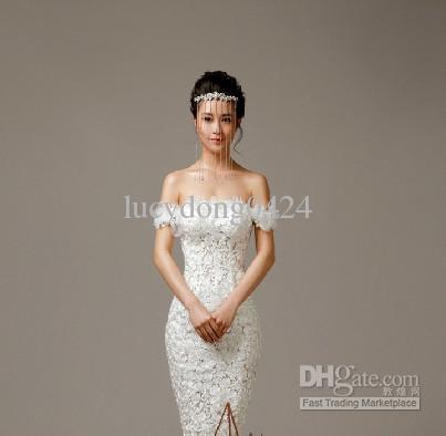 Hot! Rhinestone nupcial Hairband Noble nupcial Headpieces borlas de la corona accesorios del vestido nupcial