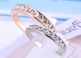 Wholesale swarovski best - best seller wome's men's RING , Band Rings ,Swarovski crystal stamped 18KGP gold-plating rings,