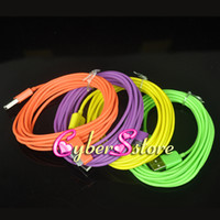 Wholesale 3M ft Color USB Data Charger Cable Cord amp Colorful Micro For iphone S ipad Samsung Galaxy