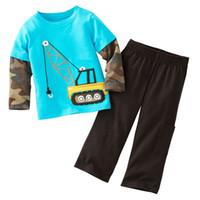 ingrosso camicie di salto di fagioli-Jumping Beans Retail 1pcs Boy's Suit Pigiama maniche lunghe Set abbigliamento per bambini T-shirts Trouses Tops Magliette per bambini M1769