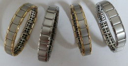 Wholesale Wholesale Spring Link - 2017 New arrival 20pcs Energy bracelet Titanium, Nano Energy Magnetic Germanium Titanium Bracelet Pain Relief Powerfull!