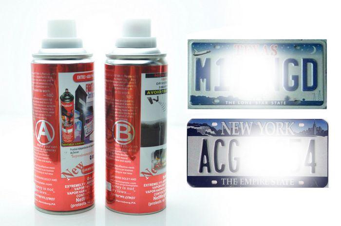 2019 Car License Plate Reflective Spray Invisible Spray