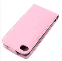 Wholesale Iphone Folding Cases - wholesale 200pcs New PU Leather Fold Flip Open Skin Case Cover Protector For iphone 4 4G 4S Brown Black White pink
