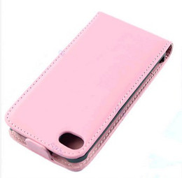 Wholesale New Iphone 4s Cases - wholesale 200pcs New PU Leather Fold Flip Open Skin Case Cover Protector For iphone 4 4G 4S Brown Black White pink