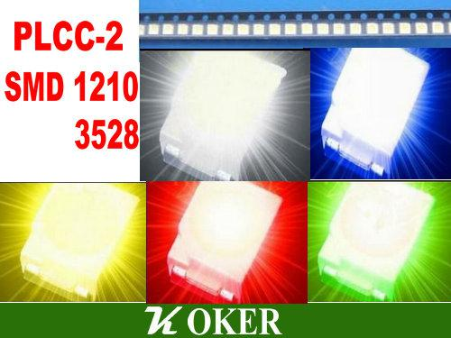 5color 1000pcs SMD 3528 (1210) White Red Blue Green yellow LED Lamp Diodes Ultra Bright SMD3528 1210 SMD LED Free shipping