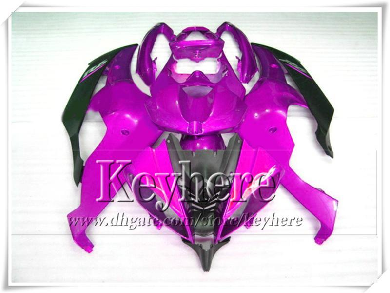ABS Kunststoff lila schwarz Verkleidung Kit für YZF-R6 2008 2009 YAMAHA YZFR6 08 09 YZF R6 08 09 Teile mit 7 Geschenke Tp4