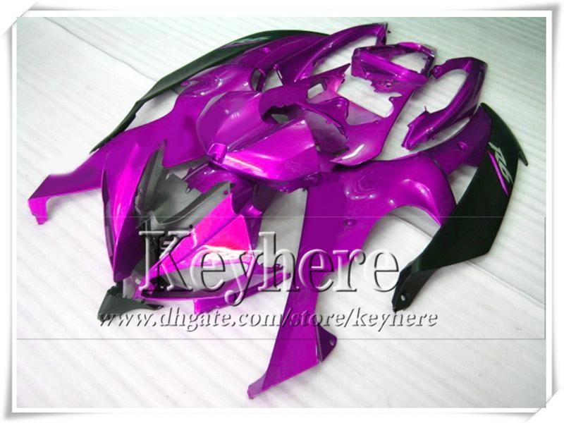 ABS Plastic purple black fairing kit for YZF-R6 2008 2009 YAMAHA YZFR6 08 09 YZF R6 08 09 parts with 7 gifts Tp4