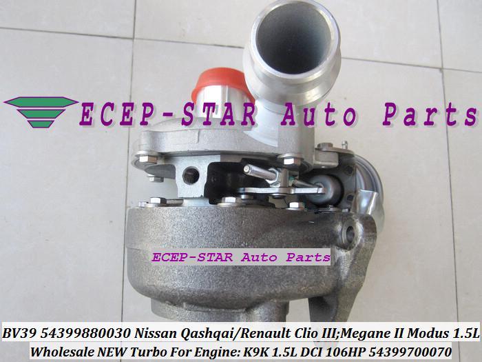 BV39 030 070 54399880070 54399700070 7701476183 8200625683 Turbo Turbocompressor Para Renault Clio III; Mês Modus Qashqai K9K 1.5L 1.5DCI