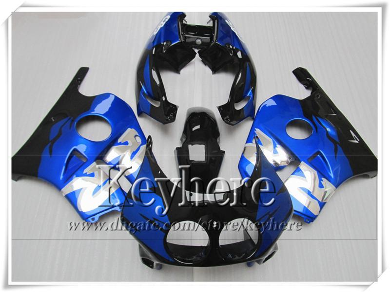 Kit de carenado mtorcycle negro plástico azul blanco negro para CBR250 MC22 1990 1991 HONDA CBR 250RR 90 CBR250RR 91 carenados de carrocería set TL1