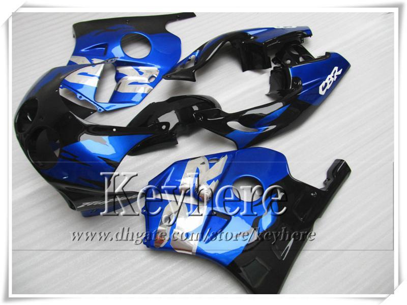 Kit de carénage mtorcycle ABS bleu bleu blanc noir pour CBR250 MC22 1990 1991 Jeu de carénages de carrosserie HONDA CBR 250RR 90 CBR250RR 91 TL1