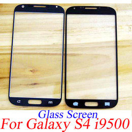 Wholesale Galaxy S4 Lcd Black - Outer Front LCD Digitizer Touch Screen Display Faceplate Glass Lens Cover for SAMSUNG Galaxy S4 I9500 black white blue Gray