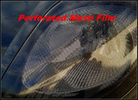 Wholesale roll eyes online - 1 roll x50metersHeadlight Tinting Perforated Mesh Film Like Fly Eye MOT Legal Tint and for Windows film tinting